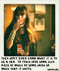 Sapphire from Almost Famous Love Music Quote